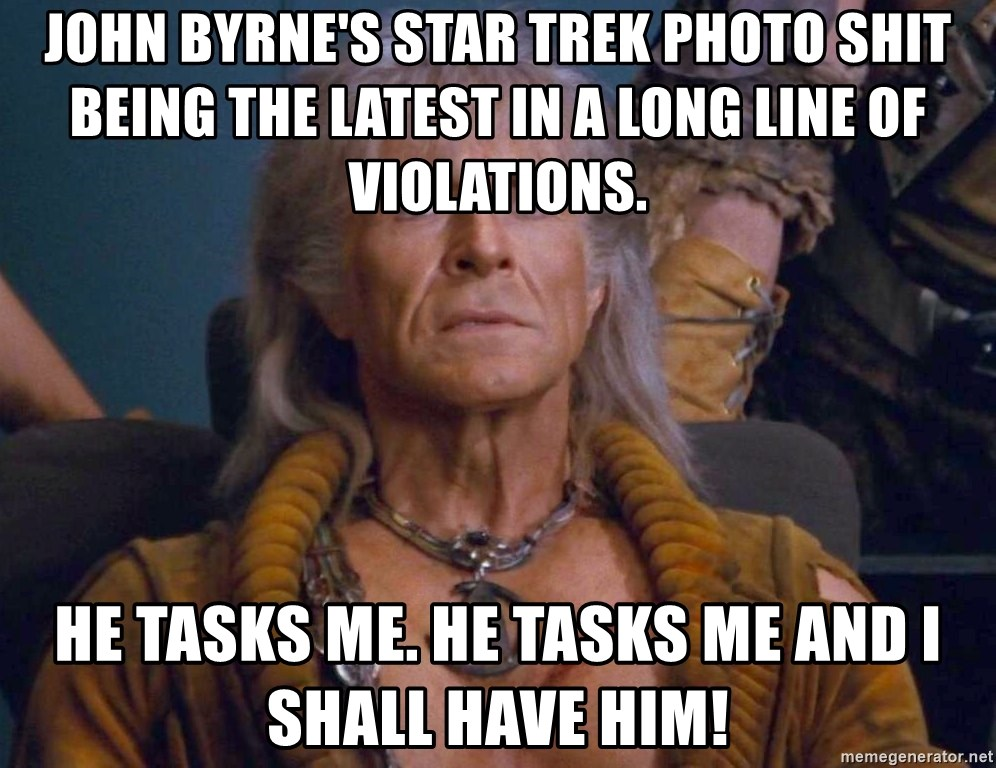 John Byrnes Star Trek Photo Shit Being The Latest In A Long Line Of