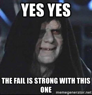 darth sidious mun - yes yes the fail is strong with this one