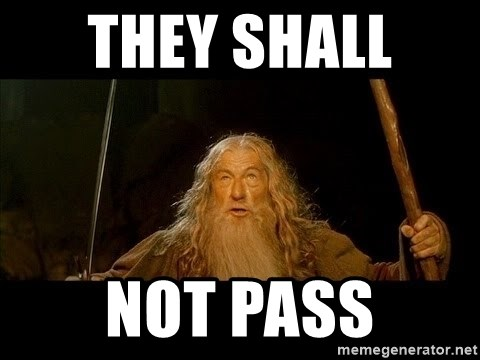 you shall not pass gandalf the gray - THEY SHALL  NOT PASS
