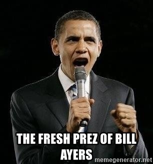 Expressive Obama -  the fresh prez of bill ayers