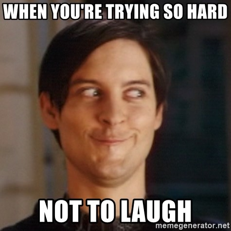 Peter Parker Spider Man - when you're trying so hard not to laugh