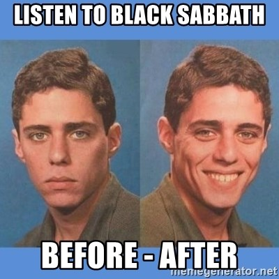 Chico Xavequeiro - listen to black sabbath before - after