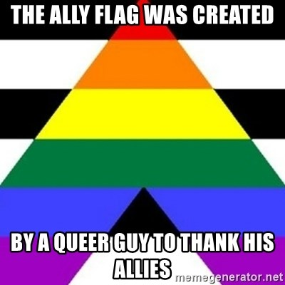 Bad Straight Ally - The Ally Flag Was Created By A Queer Guy To Thank His Allies