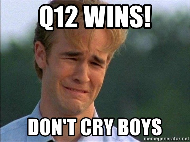 Crying Man - Q12 Wins! Don't cry boys