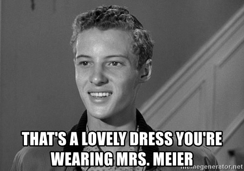 Eddie Haskell - that's a lovely dress you're wearing Mrs. Meier