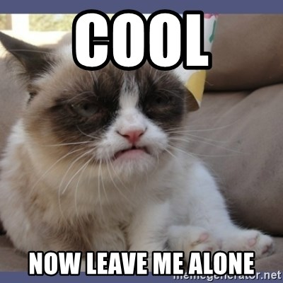 Birthday Grumpy Cat - Cool  now leave me alone