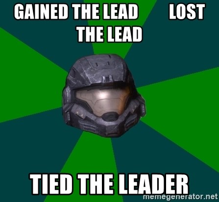 Halo Reach - gained the lead         lost the lead Tied the leader