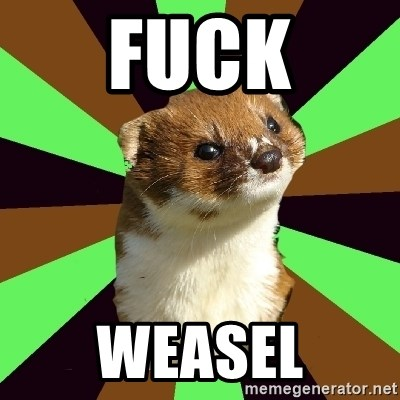 Image result for fuckweasel