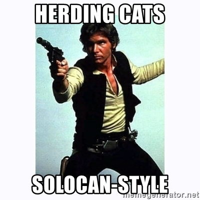Han Solo - herding cats solocan-style