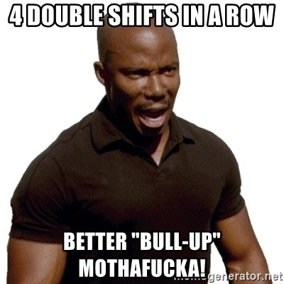 """Doakes SURPRISE - 4 double shifts in a row Better """"bull-up"""" MOTHAFUCKA!"""
