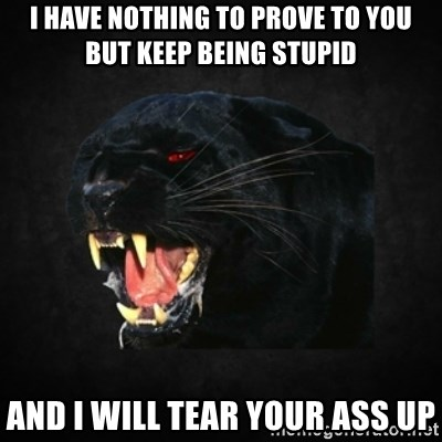 Roleplay Panther - I have nothing to prove to you but keep being stupid And i will tear your ass up