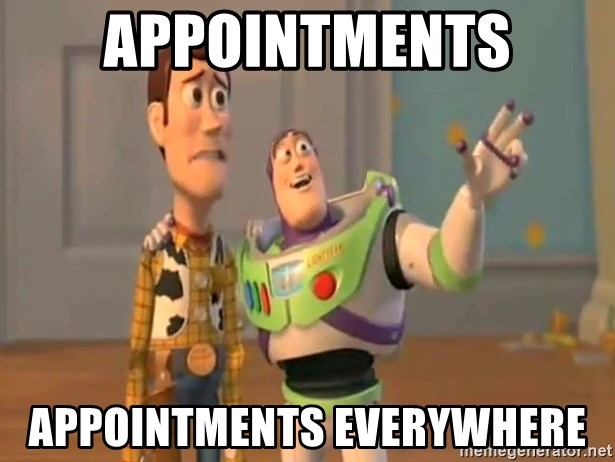 X, X Everywhere  - Appointments Appointments everywhere
