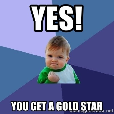 Success Kid - YES! You Get A Gold Star