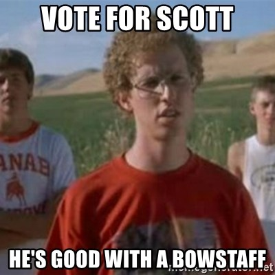 Napoleon Moped Grom - Vote for Scott He's good with a bowstaff