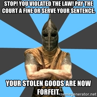 Stop You Violated The Law Pay The Court A Fine Or Serve Your