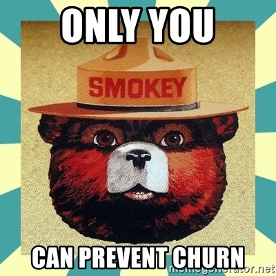 Smokey the Bear - Only YOU Can prevent churn