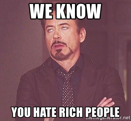 Robert Downey Jr rolls eyes - We know You hate rich people