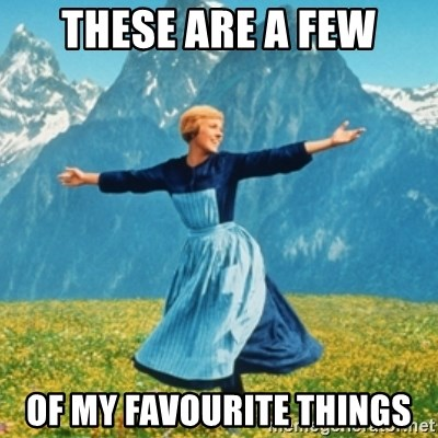 These are a few of my favourite things - Sound Of Music Lady | Meme  Generator