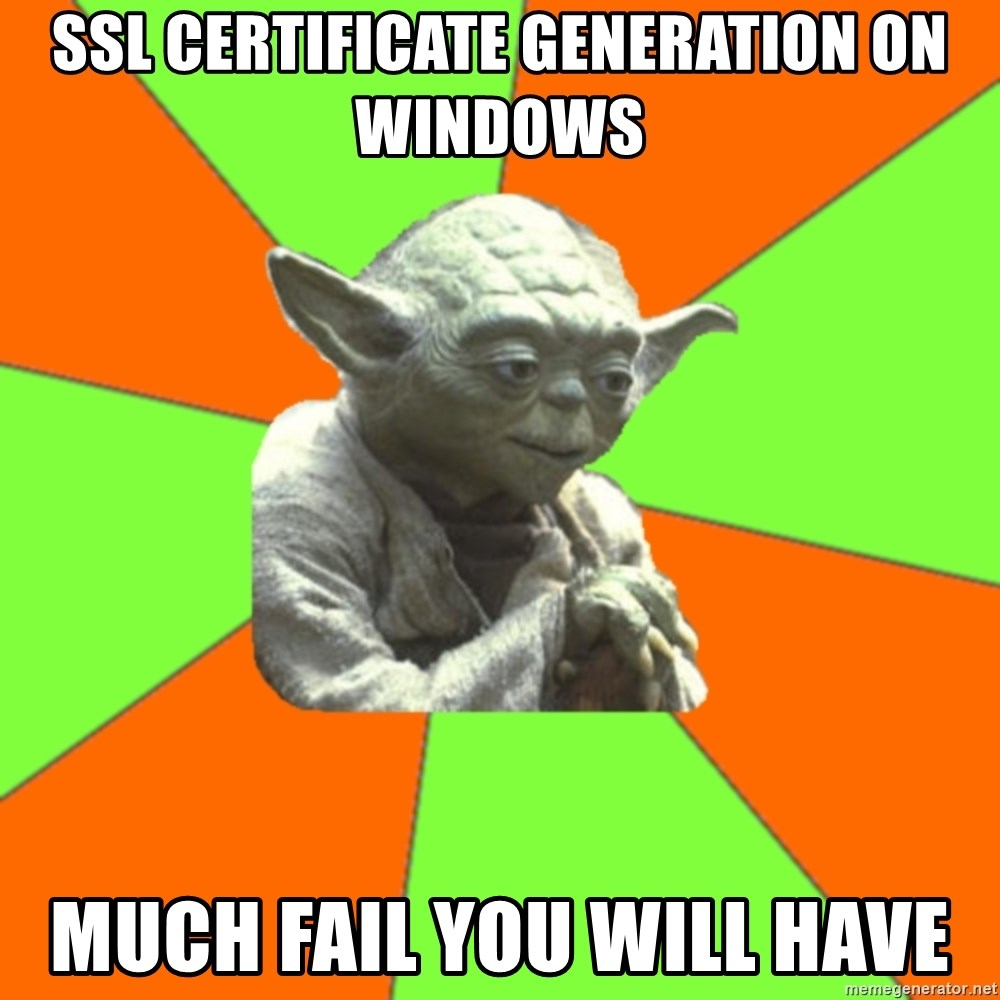 Ssl Certificate Generation On Windows Much Fail You Will Have