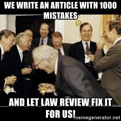 Image result for law review memes