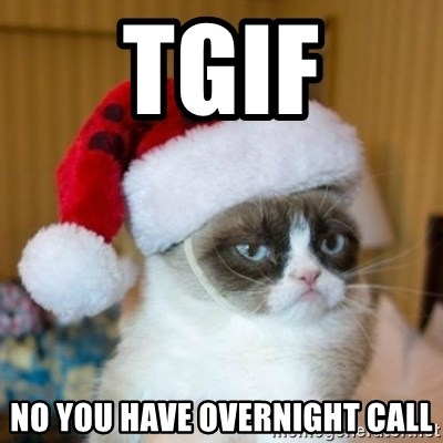Tgif No You Have Overnight Call Grumpy Cat Santa Hat Meme Generator