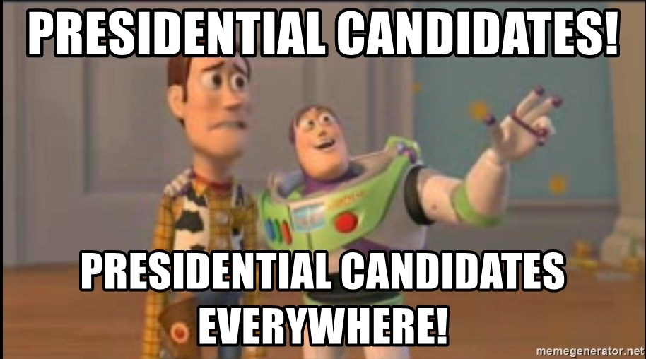 X, X Everywhere  - Presidential candidates! presidential candidates everywhere!