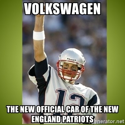 tom brady - Volkswagen The new official car of the New England Patriots