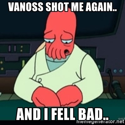 64674375 vanoss shot me again and i fell bad sad zoidberg meme,Vanoss Memes