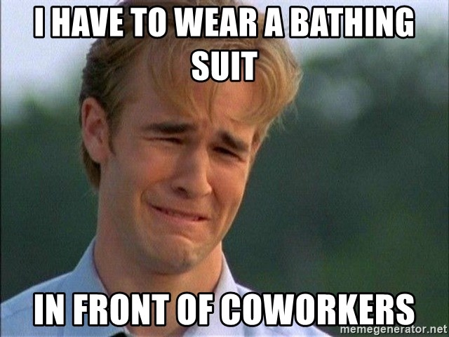 Dawson Crying - I HAVE TO WEAR A BATHING SUIT IN FRONT OF COWORKERS