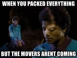 Sad Michael Jackson Chair - when you packed everything but the movers arent coming