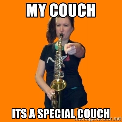 SaxGirl - MY couch Its a special couch