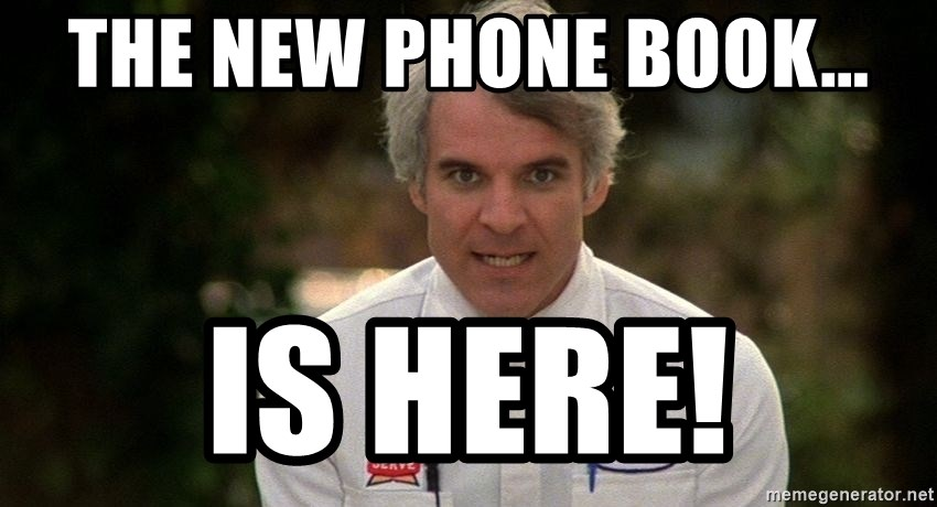 Steve Martin The Jerk - THE NEW PHONE BOOK... IS HERE!