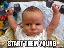 Workout baby - start them young