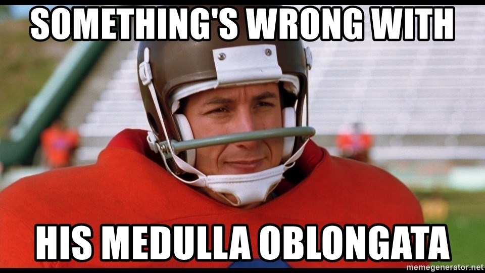 Waterboy Adam Sandler - Something's wrong with his medulla oblongata