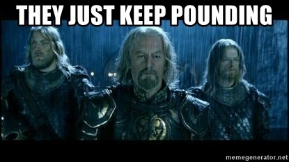 LOTR Helms Deep - They just Keep Pounding