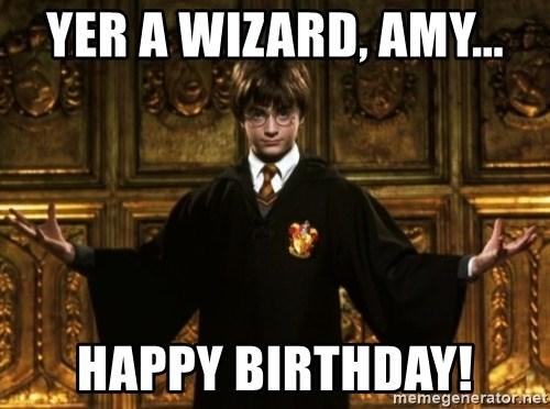 Harry Potter Come At Me Bro - Yer a Wizard, Amy... Happy Birthday!