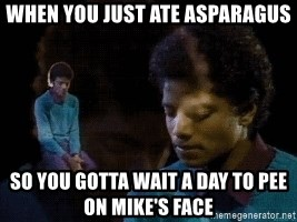 Sad Michael Jackson Chair - when you just ate asparagus so you gotta wait a day to pee on mike's face