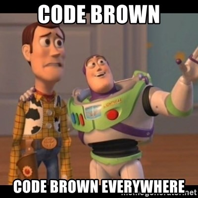 code brown meme