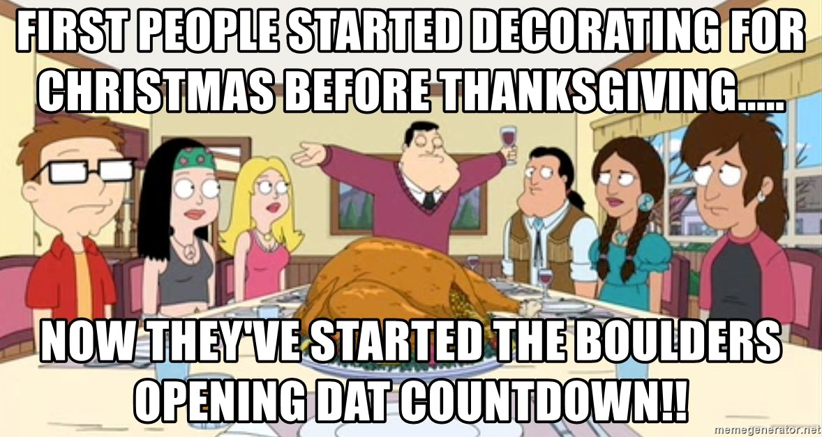 Christmas Before Thanksgiving Meme.First People Started Decorating For Christmas Before