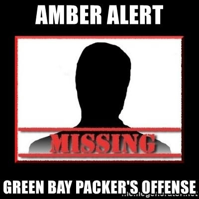 Missing person - Amber Alert green bay packer's offense