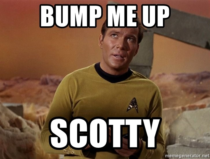 Image result for Beam me up bump
