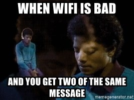 Sad Michael Jackson Chair - When wifi is bad and you get two of the same message
