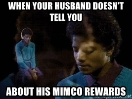 Sad Michael Jackson Chair - when your husband doesn't tell you about his mimco rewards