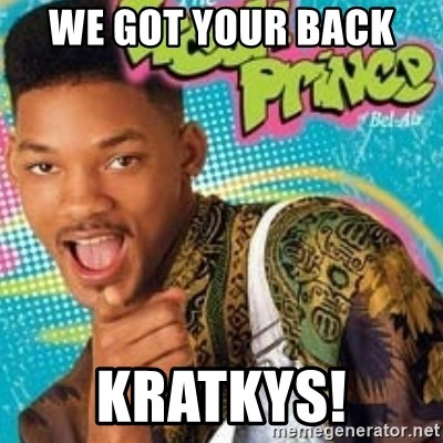 Fresh prince - We got your back  Kratkys!