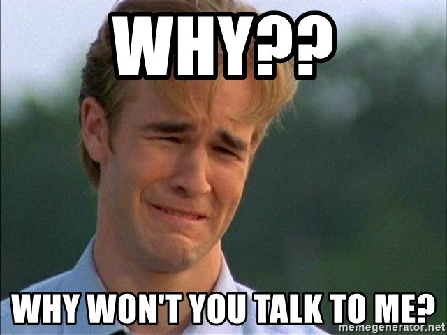 Dawson Crying - why?? why won't you talk to me?