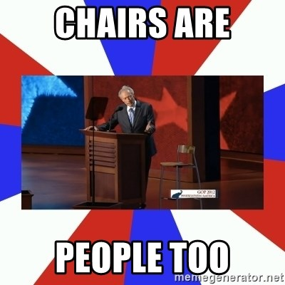Invisible Obama - Chairs are people too
