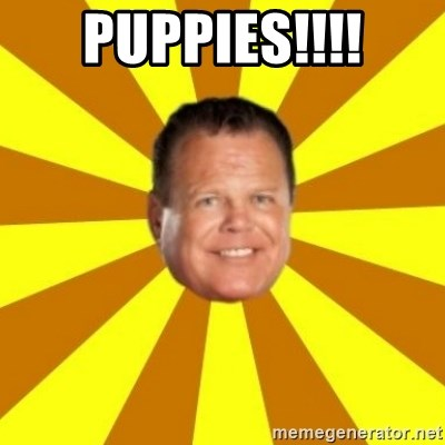 Jerry Lawler - puppies!!!!