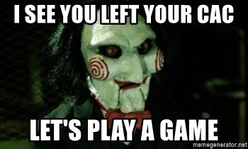 Jigsaw 12 - I see you left your cac let's play a game
