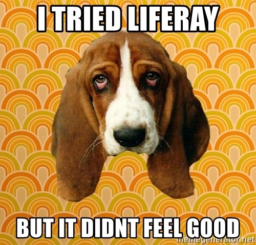 SAD DOG - I TRIED LIFERAY BUT IT DIDNT FEEL GOOD