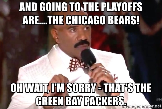 And Going To The Playoffs Arethe Chicago Bears Oh Wait Im